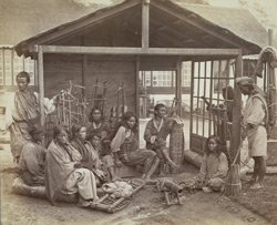 A group of Lepcha shingle cutters at Darjeeling.